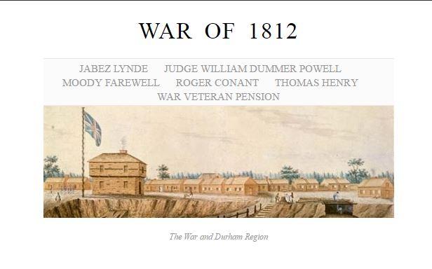 War 1812 Exhibit