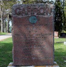 Small headstone